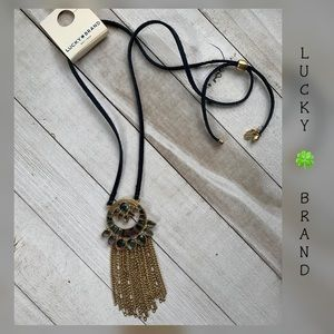 Lucky 🍀 Brand Natural Stones and Leather Necklace